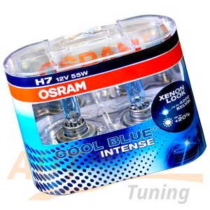 Галогенные лампы OSRAM Cool Blue INTENCE H7, DC 12V, 55W, 2 шт