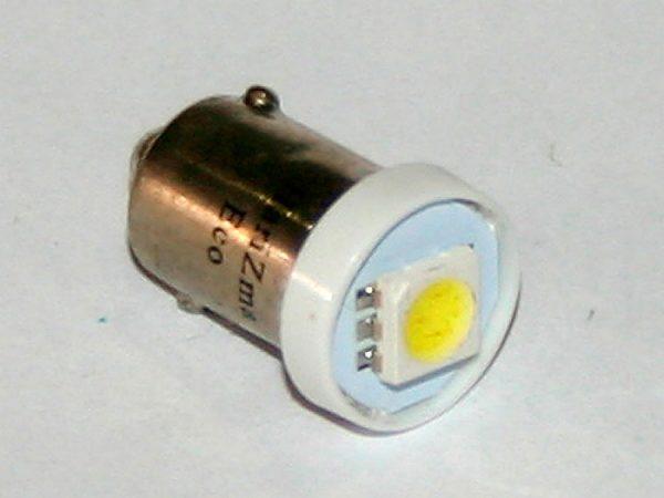 Светодиодная лампа белого света (монокристалл), BA9S, DC 12V, LW-00021F