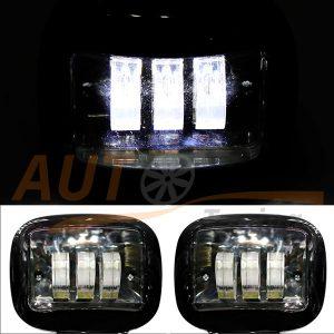 Светодиодные лампы-фары 3 LED, 120×140×55 (мм), DC 10-60V, ближний свет, 2 шт, W0430BB