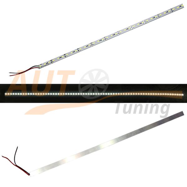 Полоса, сверхяркая LED-лента на 72 LED, 24×3 LED, L-120 см, 12V, WH-120.3.72