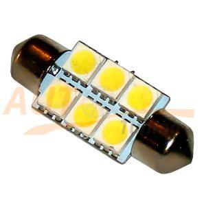 Софитная светодиодная лампа белого света, 6 LED, DC 12V, SV 0140
