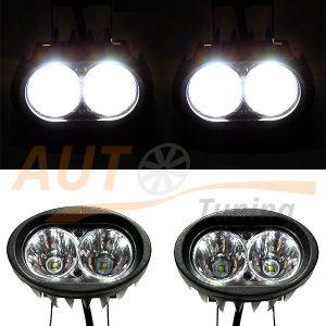 Светодиодные лампы-фары 2 LED, 95×80×75 (мм), дальний свет, 2 шт, E0230BB