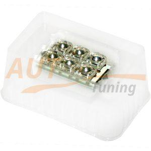 Софитная светодиодная лампа белого света с фокус-линзами, 6 LED, DC 12V, SV 0145