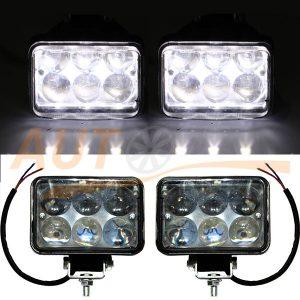 Светодиодные лампы-фары 6 LED, 110×100×65 (мм), ближний свет, 2 шт, №70