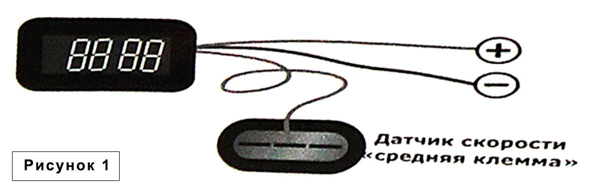 Рис. 1 (Схема подключения мультииндикатора Форсаж)