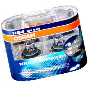 Галогенные лампы Night Breaker Plus HB4, DC 12V, 55W, 2 шт