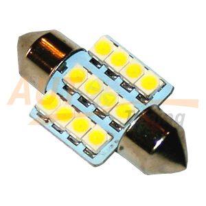 Софитная светодиодная лампа белого света, 12 LED, DC 12V, SV 0140