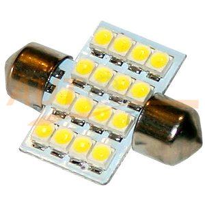 Софитная светодиодная лампа белого света, 16 LED, DC 12V, SV 0136