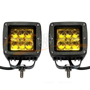 Противотуманные лампы-фары 6 LED, ближний свет (Yellow), 2 шт., W0640BY