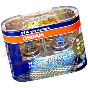 Галогенные лампы OSRAM Night Breaker Plus H4, DC 12V, 55W, 2 шт