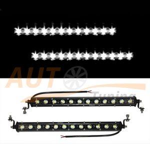 Светодиодные балка 12 LED, 380×45×45 (мм), дальний свет, 2 шт, D4-36W