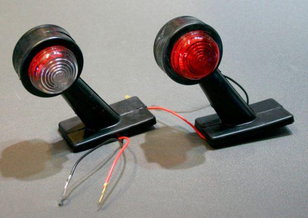 Габаритные огни типа «Рога» LED DC 12-24V, Красный, Белый, 2 шт, FT-335
