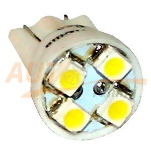Безцокольная светодиодная лампа белого света, 4 LED, LW-0007W