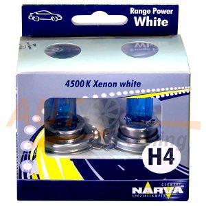 Галогенные лампы Range Power White Н4, DC 12V, 55W, 2 шт