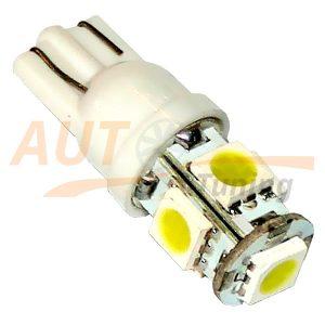 Безцокольная светодиодная лампа белого света, 5 LED, LW-0009W