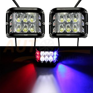 Светодиодные лампы-фары со световыми эффектами, ближний свет, 2 шт, W0260-RB