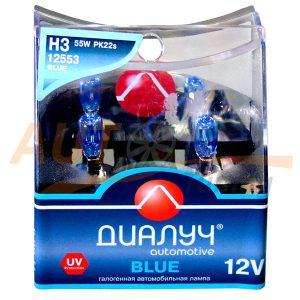 Галогенные лампы ДИАЛУЧ Automotive Blue, Н3, DC 12V, 55W, 2 шт