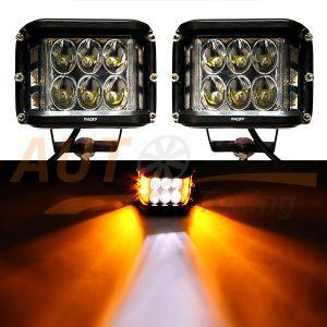 Светодиодные лампы-фары с дублером поворота, ближний свет, 2 шт, W0260-WY