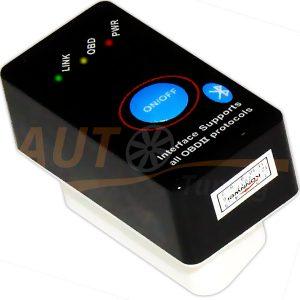 Автомобильный сканер для диагностики, ELM 327 mini V2.1 с кнопкой, Bluetooth