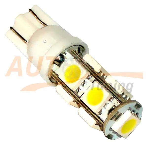Безцокольная светодиодная лампа белого света, 9 LED, LW-00013W