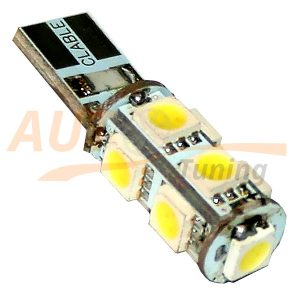 Безцокольная LED лампа белого света с резистором для БК, 9 LED, LW-00015BL
