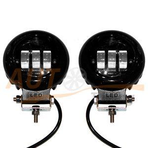 Светодиодные лампы-фары 3 LED, Ø120 мм, ближний свет, 2 шт, RB-44F5