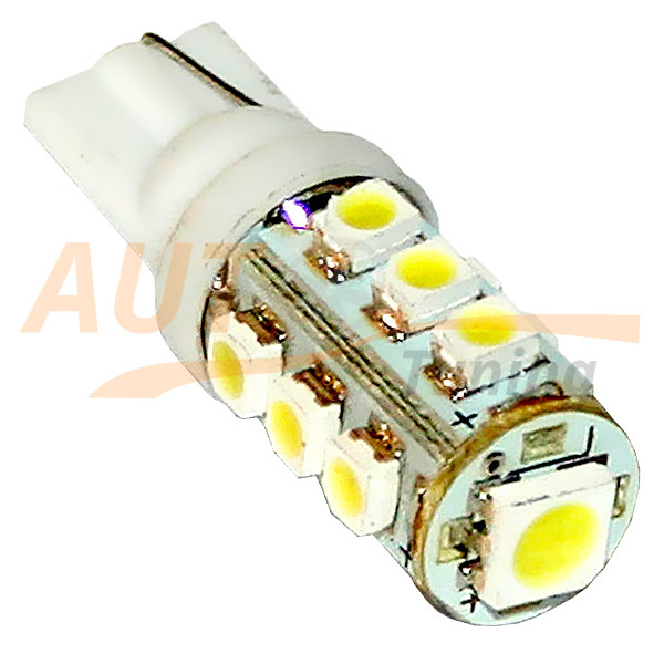 Безцокольная светодиодная лампа белого света, 13 LED, DC 12V, LW-00019W