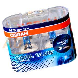 Галогенная лампа OSRAM Cool Blue INTENCE, H3, DC 12V, 55W, 2 шт