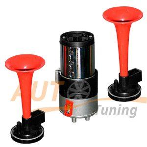 Фанфары, автомобильный звуковой воздушный сигнал, компрессор, 2 дудки, 100744
