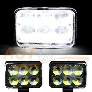 Светодиодная лампа-фара с 6 LED, 115×80×60 (мм), дальний свет, 1 шт, 70-18