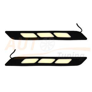 Дневные ходовые огни (ДХО), гибкая полоса на бампер, 2×32 cm, DC 12V, MS-687