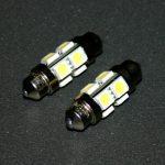Софитная светодиодная лампа белого света, 8 LED, DC 12V, ULC-4L