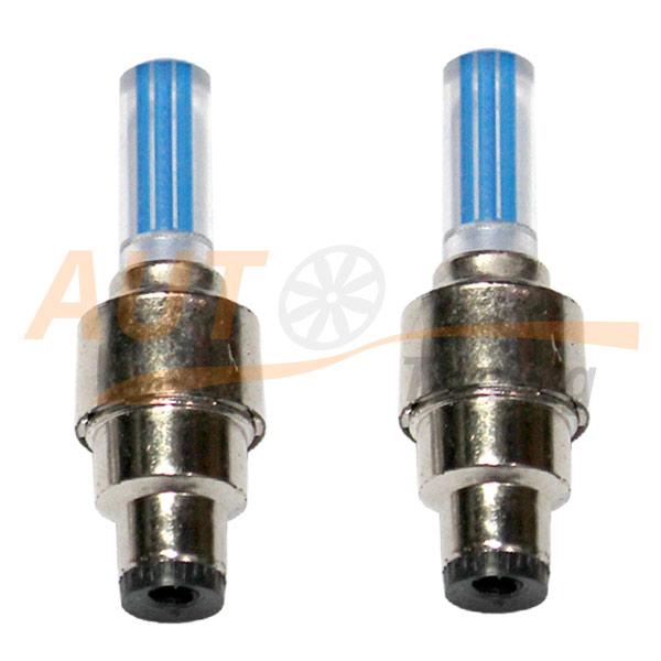 LED колпачки на ниппель колеса с датчиком вибрации, 2шт, Blue, LB-15