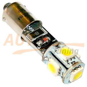 Светодиодная лампа белого света с резистором для БК, 9 LED, LW-00017BL