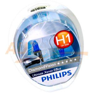 Галогенные лампы PHILIPS DiamondVision, Н1, DC 12V, 55W, 2 шт