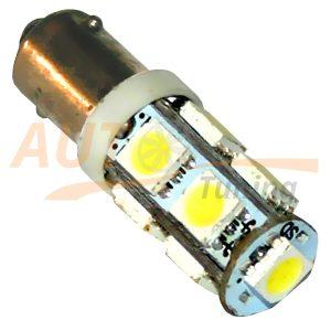Светодиодная лампа белого света, 9 LED, BA9S, DC 12V, LW-00029W