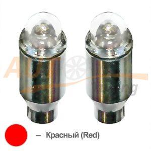 Светодиодные LED колпачки на ниппель колеса, 2шт, Red, LR-25