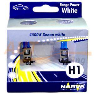 Галогенные лампы NARVA Range Power White Н1, DC 12V, 55W, 2 шт