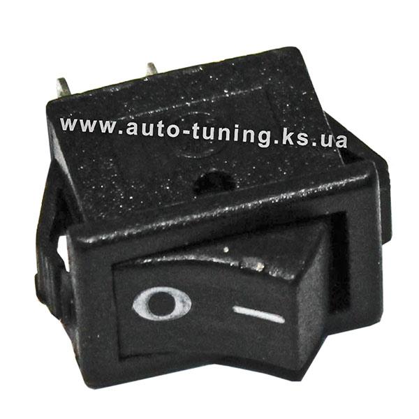 Универсальная врезной выключатель на защелках, on/off, Black (вид сбоку)
