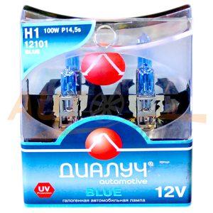 Галогенные лампы ДИАЛУЧ Automotive Blue, Н1, DC 12V, 100W, 2 шт