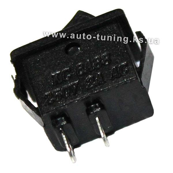 Универсальная врезной выключатель на защелках, on/off, Black (вид сзади)