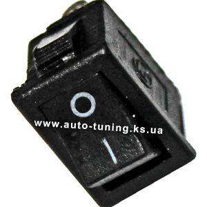 Универсальная врезной выключатель на защелках, on/off, Black