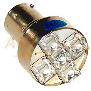 Светодиодная лампа белого света, 5 LED, BA9S, DC 12V, LW-1156/5