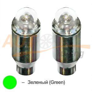 Светодиодные LED колпачки на ниппель колеса, 2шт, Green, LG-35