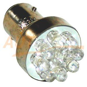 Светодиодная лампа белого света, 9 LED, BA9S, DC 12V, LW-1156/9