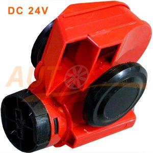 Автомобильный звуковой воздушный сигнал Vitol CA-10424 / Elephant цвет красный