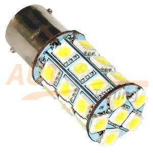 Светодиодная лампа белого света, 27 LED, BA9S, DC 12V, LW-1156/27