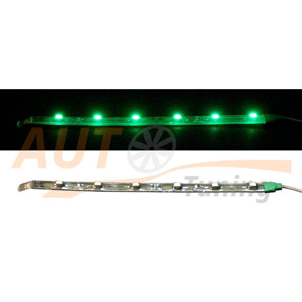Отрезок светодиодной ленты зеленого цвета 6 LED, DC 12V, Green, GL-567.5.30