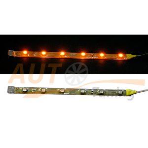 Отрезок светодиодной ленты желтого цвета 6 LED, DC 12V, Yellow, GL-563.1.30