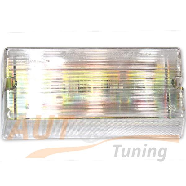 Прямоугольный плафон освещения кабины ЛАЗ, ПАЗ, БУС, 12V, 37.458.064-90